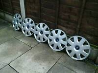 FORD 16 INS WHEEL TRIMS, ,,X 5 ,,GOOD CONDITION