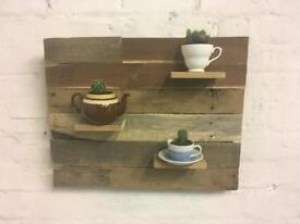 Reclaimed wood plant stand