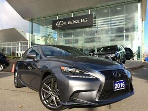2016 Lexus IS 350 1 Owner AWD Lthr Nav BUcam Sroof Btooth
