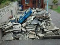 Rubble/Paving Slabs