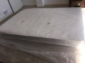 Double Mattress Memory Foam and Springs Quilted Fabric Sizes 135 x 190