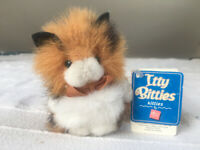 Super cute Russ Itty Bitties Kitties soft toy cat. Displayed only, original labels attached.