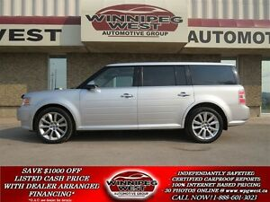 2010 Ford Flex LIMITED AWD, HEATED LEATHER, QUAD SUNROOFS, 7 PAS
