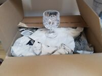 Crystal wine/gin glasses set of 12
