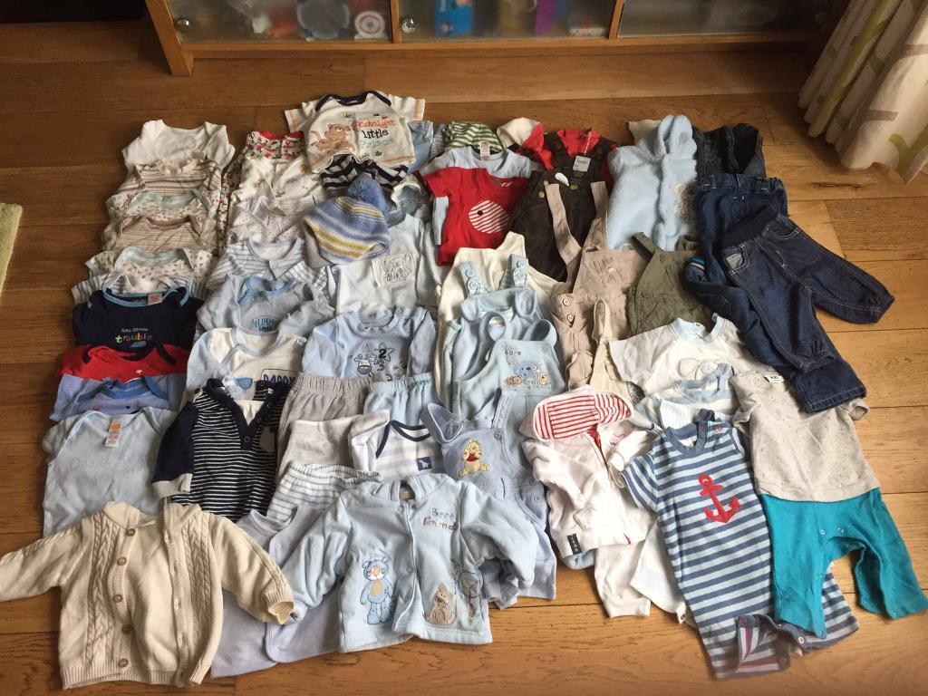 Baby boys clothes bundle age 0-3 months