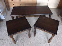 Coffee Table + Qty 2 Occasional tables
