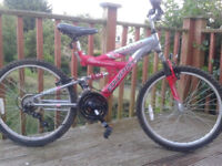 PX-Swap/Sell EQUATOR Full Suspension MTN Bike,24in Wheels,15 spd,Good tyres/brakes,Kick Stand,F.W.O
