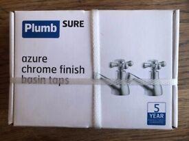 Plumb Sure Chrome Finish Basin Taps