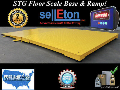 New Industrial 48 X 48 Floor Scale With Ramp 5000 Lbs X 1 Lb Digital Pallet