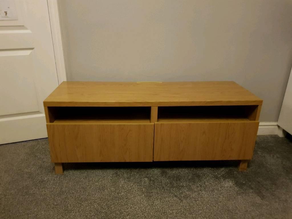 Ikea Besta TV bench Oak