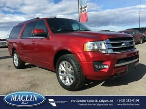 2016 Ford Expedition Max Limited, Hot/ Cold Leather, Nav, Roof