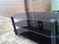 Large smoked glass tv unit