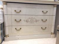 Stunning marble chest of drawers set