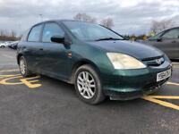 Honda Civic 1.6 Petrol Vtec SE Executive Bargain Quick Sale Service Mot 2 Keys Good Runner Leathers