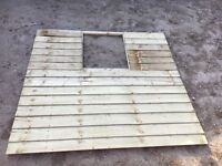 New - Forest Garden Pressure Treated Shed Panel With Window Cut Out for 6x4 Shed