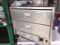 CATERING RESTAURANT KITCHEN CAFE BAKERY TAKEAWAY COMMERCIAL HOT FOOD WARMING CABINET