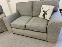 Stunning Next large luxury 2 & 2 Grey fabric sofas suite