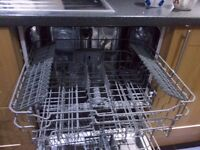3 YEAR OLD INTEGRATED KENWOOD DISHWASHER FOR SPARES OR REPAIR - NO HEAT