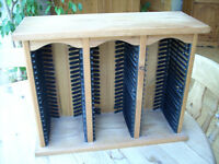CD cabinet, pine