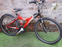 """Age 8+, GIANT MTX, 14"""" frame, 24"""" wheels, 18 gears. Good condition"""