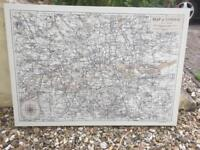 Large map of London