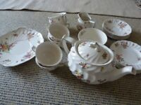 Royal Doulton Vintage Old Leeds Sprays Tea Set (6) Fab Condition