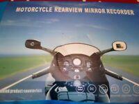 Motorcycle Dash Cam - wing mirror mounted