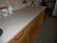 Egger White Fleetwood kitchen worktops. 2 off-cuts Brand new.