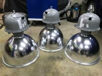 LARGE HIGH QUALITY DOMED ALUMINIUM LIGHT FITTINGS