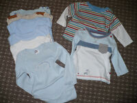 Bundle of 27 baby boy clothes 3-6mths plus 5 pairs of socks for free.