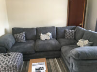 Ex Harveys Corner Sofa and Footstool