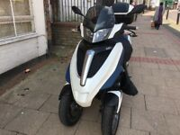 piaggio mp3 urban lt 300 cc white excellent runner hpi clear!!!!!!