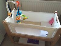 2 Cribs, Moses basket, cocoonababy nest, tippietoe bath tub