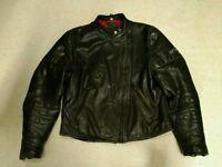 *BARGAIN* Vintage Optimod Mens Biker Real Leather Black Jacket