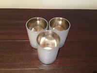 John Lewis set of 3 glass tea light holders