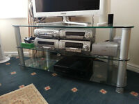 GLASS TV STAND FOR LARGE TV's*GOOD CONDITION*