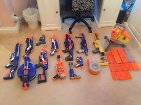 Nerf Gun Collection 12 Guns and Accessories