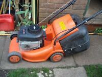Petrol Mower XC35 (full working order) With A Grass Collection Box