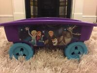 Disney frozen Anna and Elsa pull along cart children's/girls toy