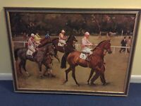 Large prints in frame Horse racing, horses