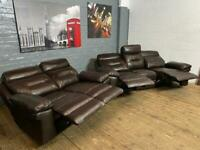 Harveys leather sofa set recliner 3+2 seater new £499