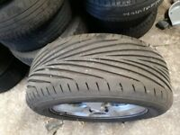 Brand new goodyear 225/55/ZR16 on a jag alloy