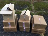 165 boxed pint glasses, various stamps/brands