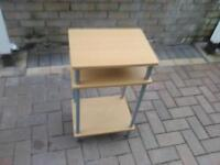 wooden unit with shelves