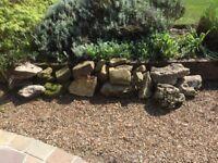 Yorkstone and stone rocks