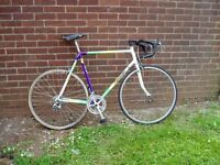 """RALEIGH,RACING BIKE, 23.5"""" FRAME 60cm.700c ALLOY WHEELS, SERVICED NEW PARTS."""