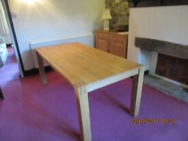 Actona Light Oak Extending Dining Table