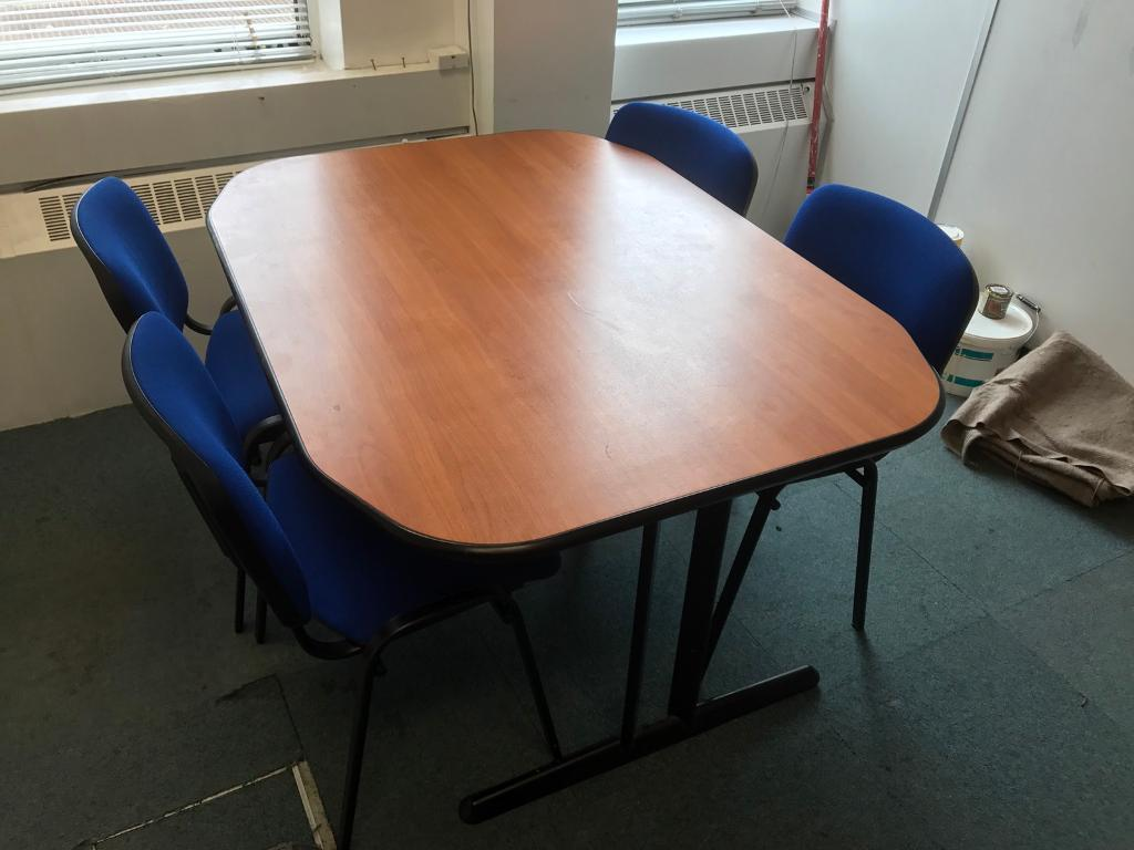 Herman Miller Meeting Table & 4 Chairs