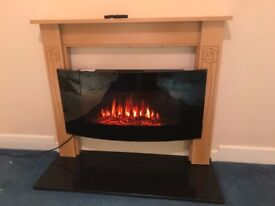 Electric Fire, Wood Surround & Hearth