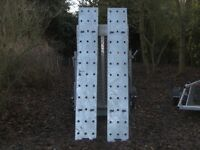 NEW/UNUSED PAIR OF 8FT VERY HEAVY DUTY RAMPS FULLY GALVANISED TRAILER PLANT TRACTOR ETC.